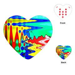Bright Colours Abstract Playing Cards (heart)