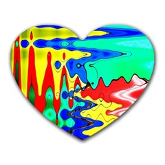 Bright Colours Abstract Heart Mousepads