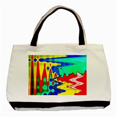 Bright Colours Abstract Basic Tote Bag (two Sides)