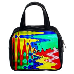 Bright Colours Abstract Classic Handbags (2 Sides)