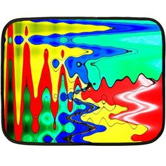Bright Colours Abstract Double Sided Fleece Blanket (mini)