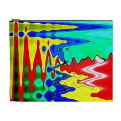 Bright Colours Abstract Cosmetic Bag (xl)