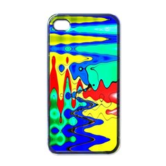 Bright Colours Abstract Apple Iphone 4 Case (black)