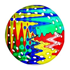 Bright Colours Abstract Round Filigree Ornament (two Sides)