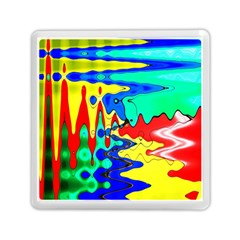 Bright Colours Abstract Memory Card Reader (square)