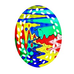 Bright Colours Abstract Ornament (Oval Filigree)