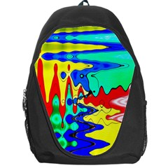 Bright Colours Abstract Backpack Bag