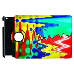 Bright Colours Abstract Apple Ipad 3/4 Flip 360 Case