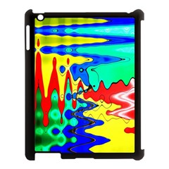 Bright Colours Abstract Apple Ipad 3/4 Case (black)