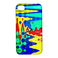 Bright Colours Abstract Apple Iphone 4/4s Hardshell Case With Stand