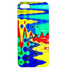 Bright Colours Abstract Apple Iphone 5 Hardshell Case With Stand