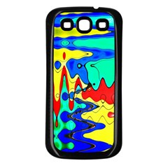 Bright Colours Abstract Samsung Galaxy S3 Back Case (black)