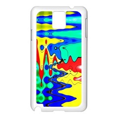 Bright Colours Abstract Samsung Galaxy Note 3 N9005 Case (White)