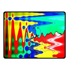 Bright Colours Abstract Double Sided Fleece Blanket (Small)