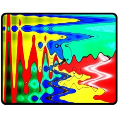 Bright Colours Abstract Double Sided Fleece Blanket (medium)