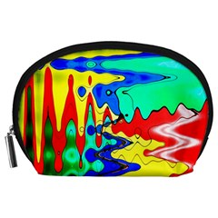 Bright Colours Abstract Accessory Pouches (Large)