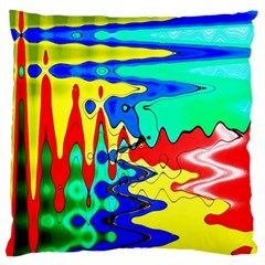 Bright Colours Abstract Standard Flano Cushion Case (One Side)