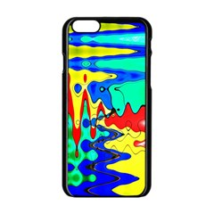 Bright Colours Abstract Apple iPhone 6/6S Black Enamel Case