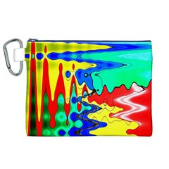 Bright Colours Abstract Canvas Cosmetic Bag (xl)