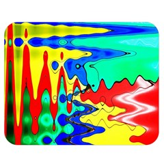 Bright Colours Abstract Double Sided Flano Blanket (medium)