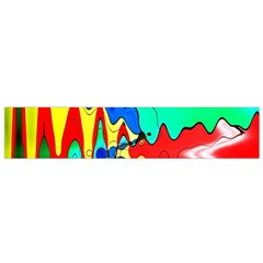 Bright Colours Abstract Flano Scarf (Small)