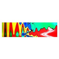 Bright Colours Abstract Satin Scarf (oblong)