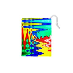 Bright Colours Abstract Drawstring Pouches (xs)