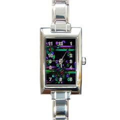 Digital Painting Colorful Colors Light Rectangle Italian Charm Watch
