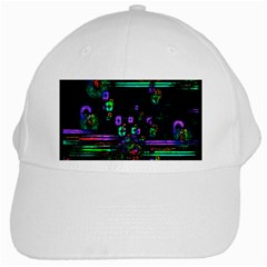 Digital Painting Colorful Colors Light White Cap