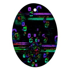 Digital Painting Colorful Colors Light Ornament (oval)