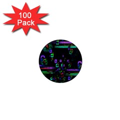 Digital Painting Colorful Colors Light 1  Mini Magnets (100 pack)