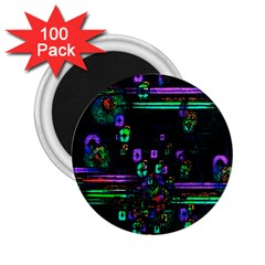 Digital Painting Colorful Colors Light 2 25  Magnets (100 Pack)