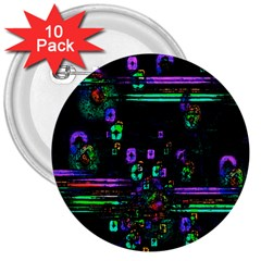 Digital Painting Colorful Colors Light 3  Buttons (10 Pack)