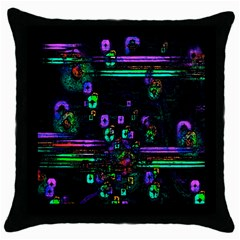 Digital Painting Colorful Colors Light Throw Pillow Case (Black)