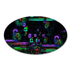 Digital Painting Colorful Colors Light Oval Magnet