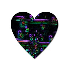 Digital Painting Colorful Colors Light Heart Magnet