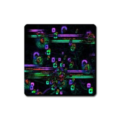 Digital Painting Colorful Colors Light Square Magnet