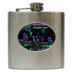 Digital Painting Colorful Colors Light Hip Flask (6 Oz)