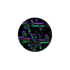 Digital Painting Colorful Colors Light Golf Ball Marker