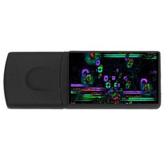 Digital Painting Colorful Colors Light USB Flash Drive Rectangular (2 GB)