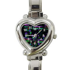 Digital Painting Colorful Colors Light Heart Italian Charm Watch