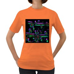 Digital Painting Colorful Colors Light Women s Dark T Shirt
