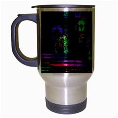 Digital Painting Colorful Colors Light Travel Mug (silver Gray)