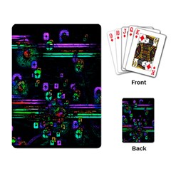 Digital Painting Colorful Colors Light Playing Card