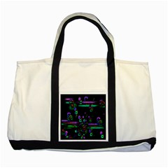 Digital Painting Colorful Colors Light Two Tone Tote Bag