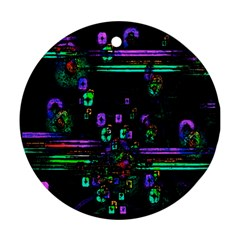 Digital Painting Colorful Colors Light Round Ornament (two Sides)