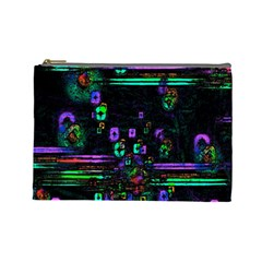 Digital Painting Colorful Colors Light Cosmetic Bag (large)