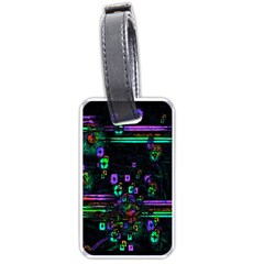 Digital Painting Colorful Colors Light Luggage Tags (two Sides)