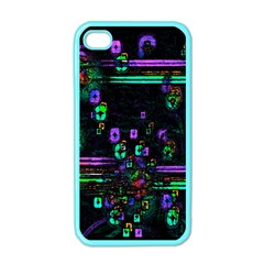 Digital Painting Colorful Colors Light Apple Iphone 4 Case (color)