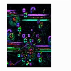 Digital Painting Colorful Colors Light Small Garden Flag (Two Sides)